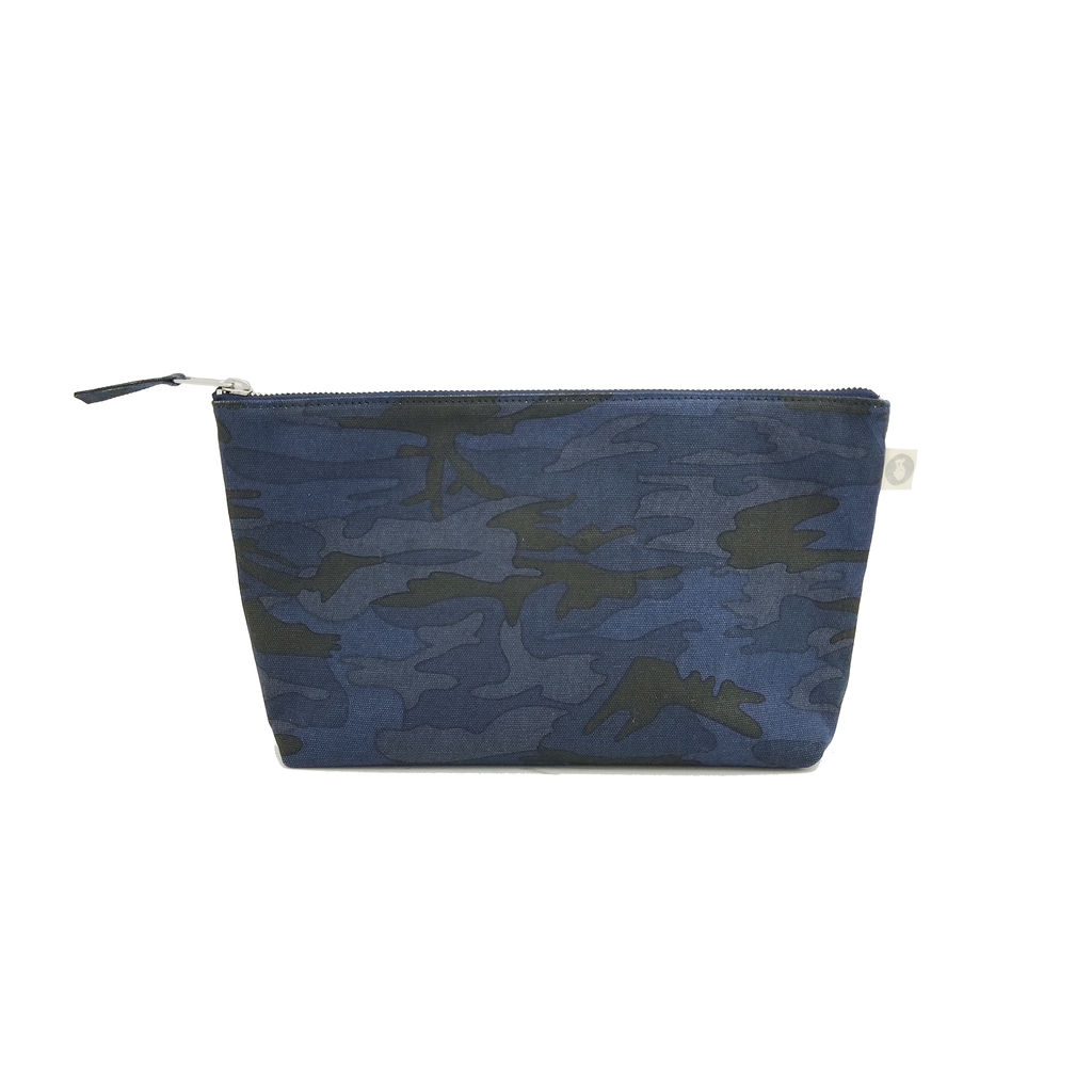Clutch Bag: Dark Blue Camouflage