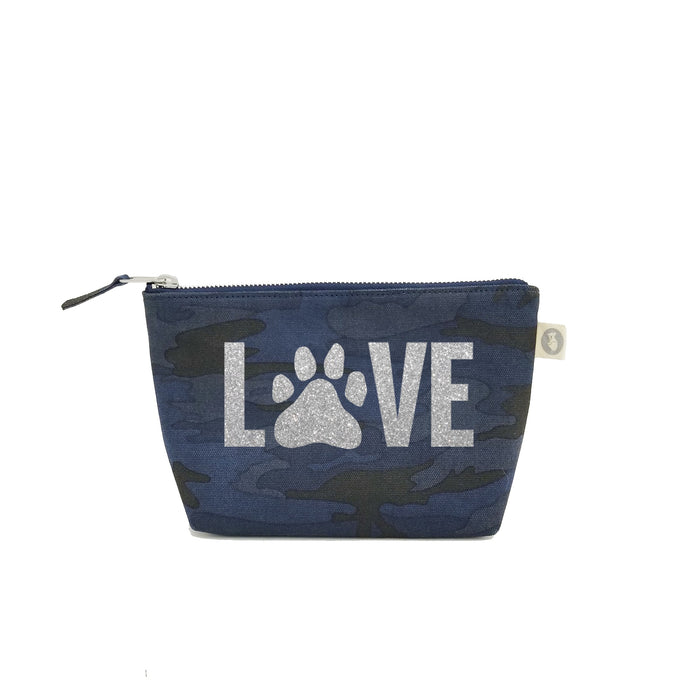 Dog LOVE:  Dark Blue Camouflage