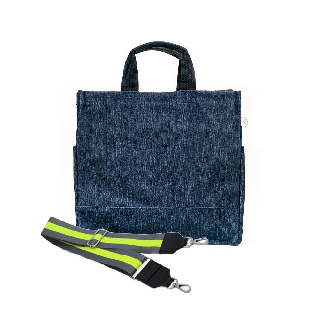 Luxe North-South Bag: Denim