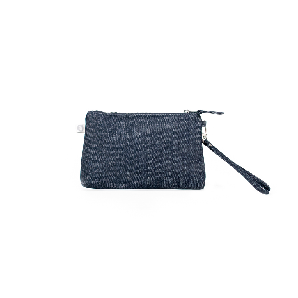 Mini Luxe Clutch with Wristlet: Denim  Back in Stock!