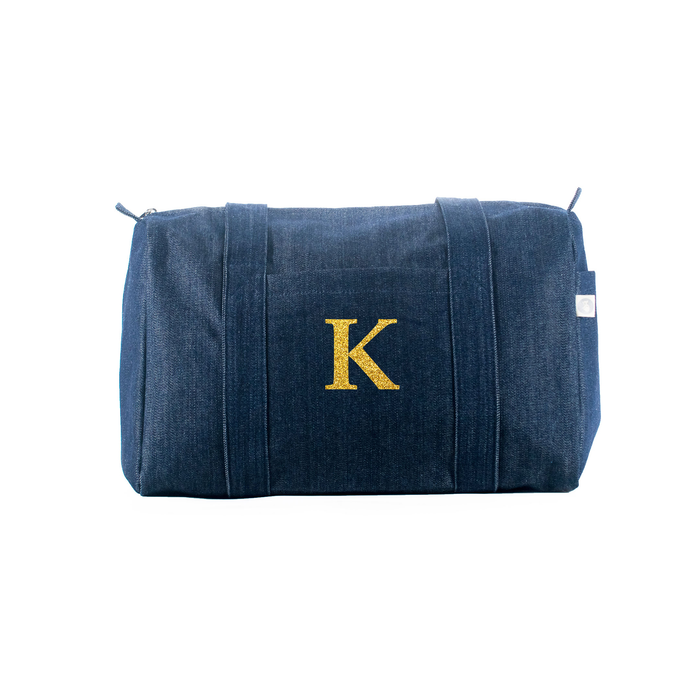 Small Denim Duffel: Monogram