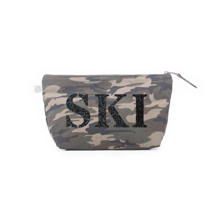 SKI Collection: Clutch Bag Camouflage with Black Glitter SKI