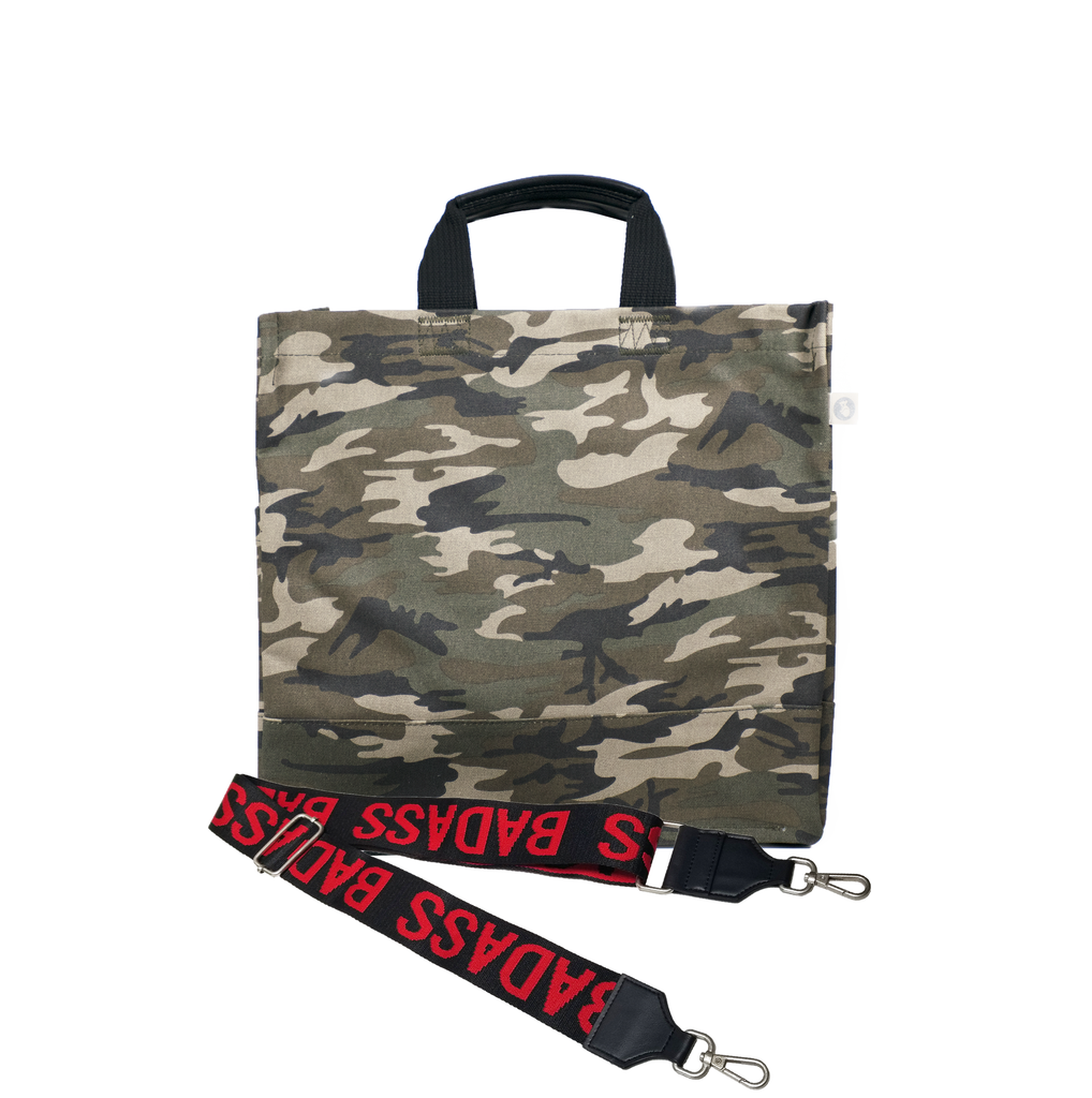 Luxe North-South Bag: Camouflage