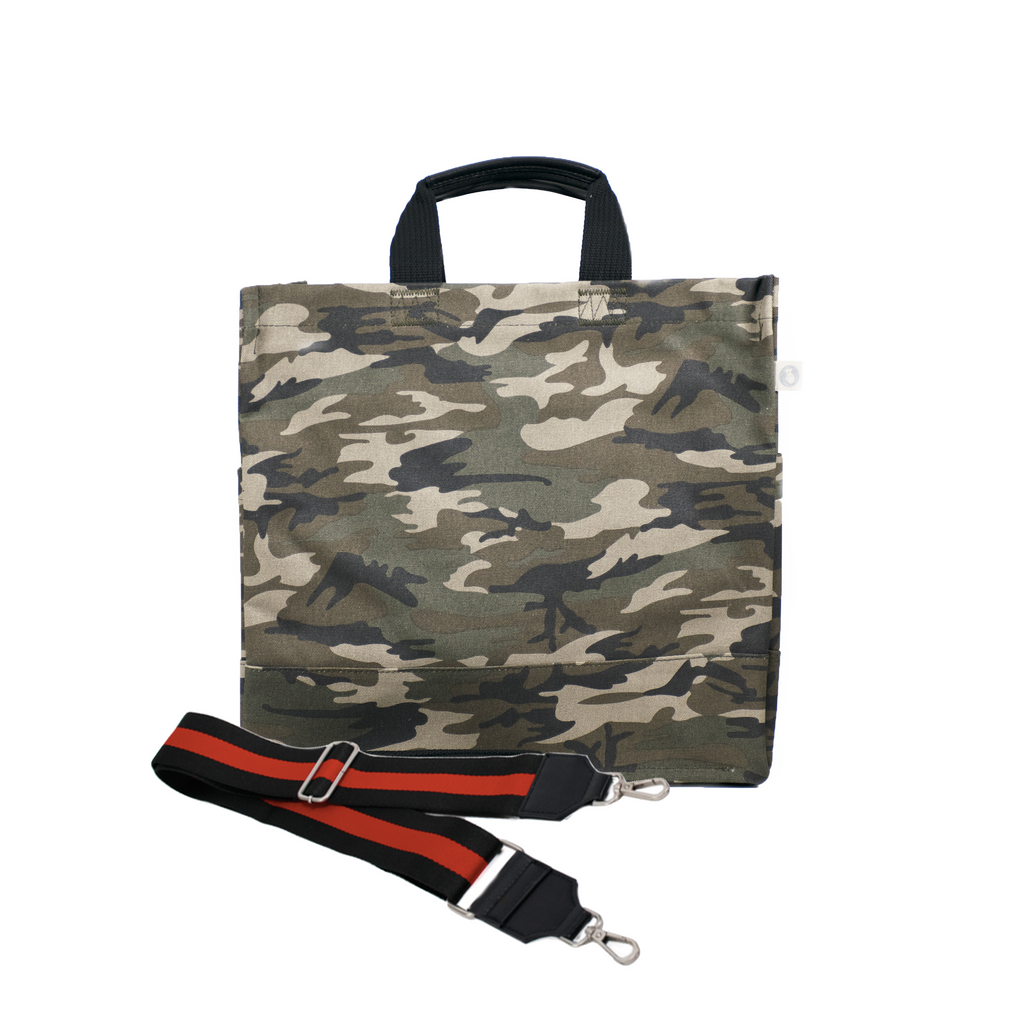 Monogram Stripe Green Camo North South Bag