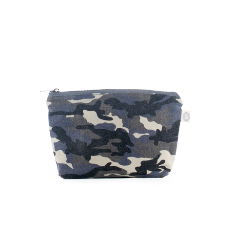 Makeup Bag: Grey Camouflage