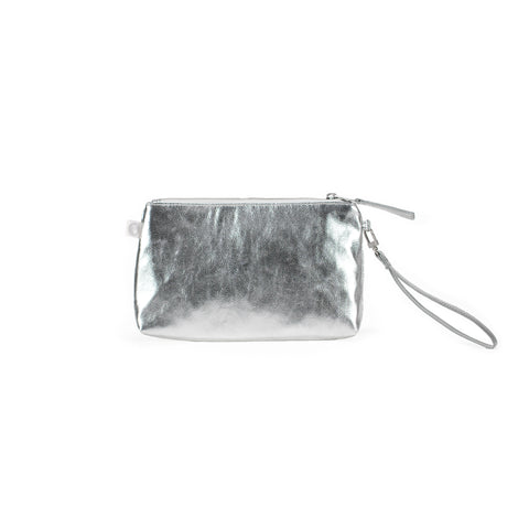 Mini Luxe Clutch with Wristlet: Jet Engine
