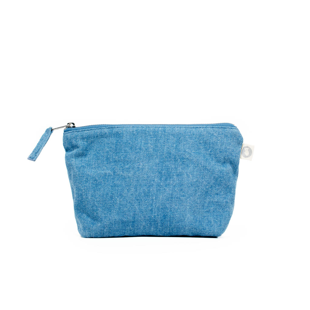 Makeup Bag: Lightwash Denim