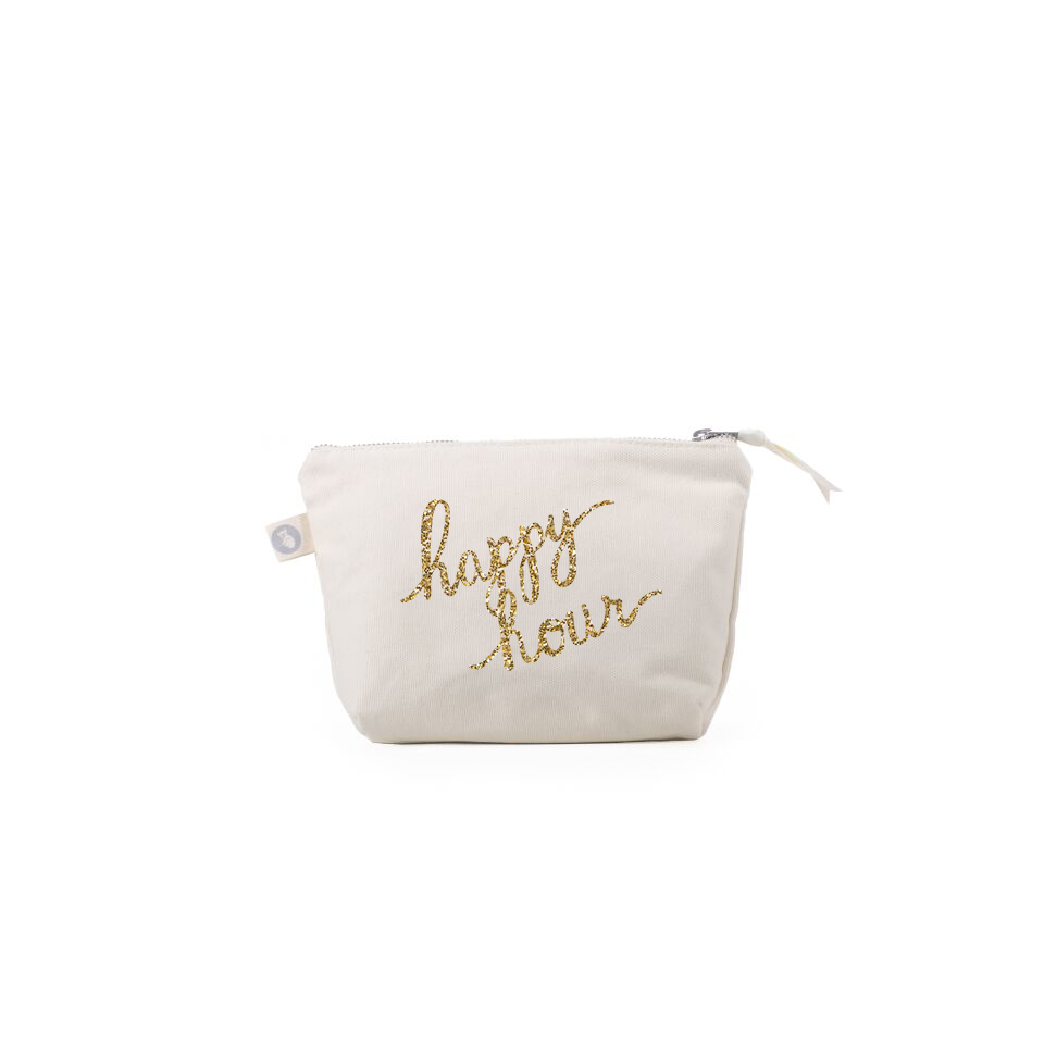 Makeup Bags: Black - Hello Vino! and Natural Happy Hour
