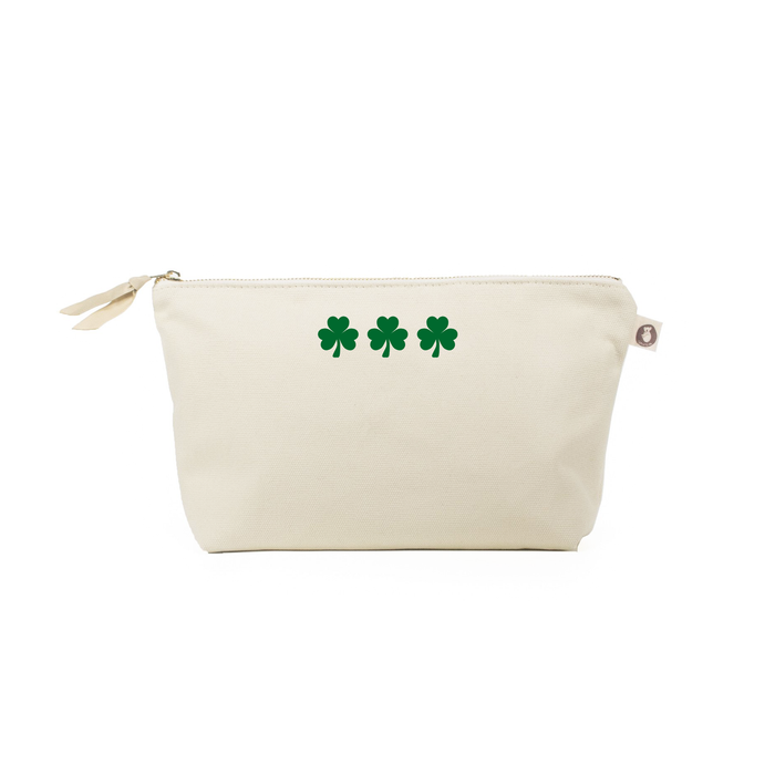 Natural CLUTCH: Mini Green Shamrocks -  Use code LUCKY to save 20%