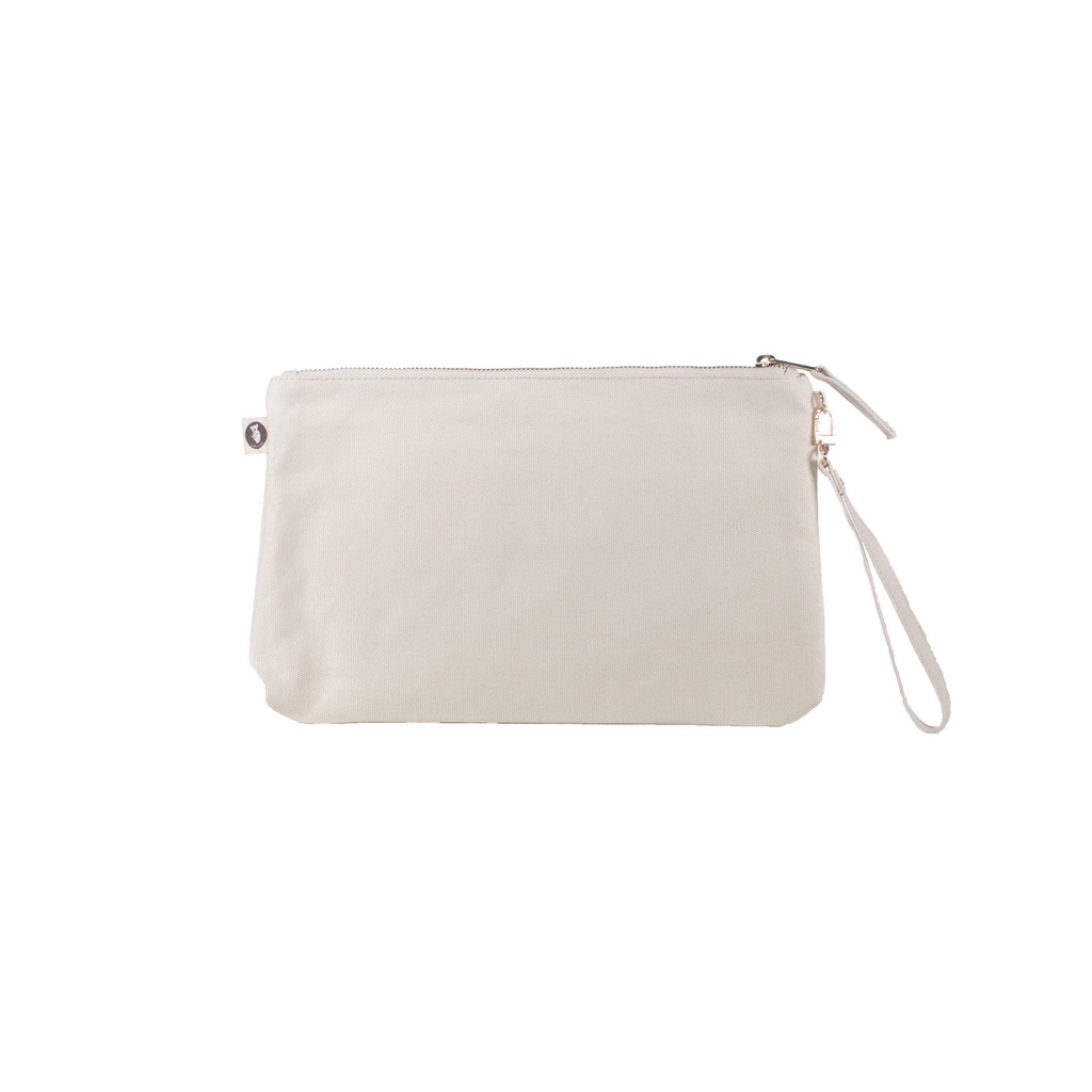 Luxe Clutch with Wristlet: Natural