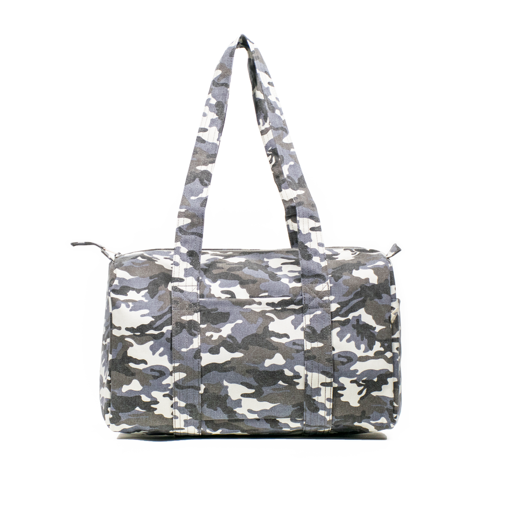 Small Duffel: Grey Camouflage