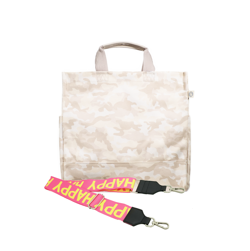 Monogram Stripe Blush Camo North South Bag
