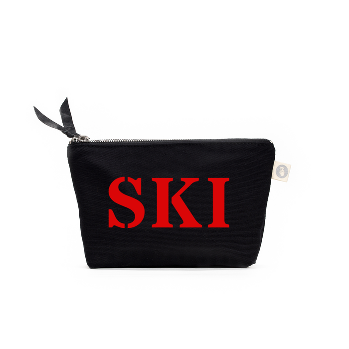SKI Collection: Makeup Bag Black with Red Matte SKI