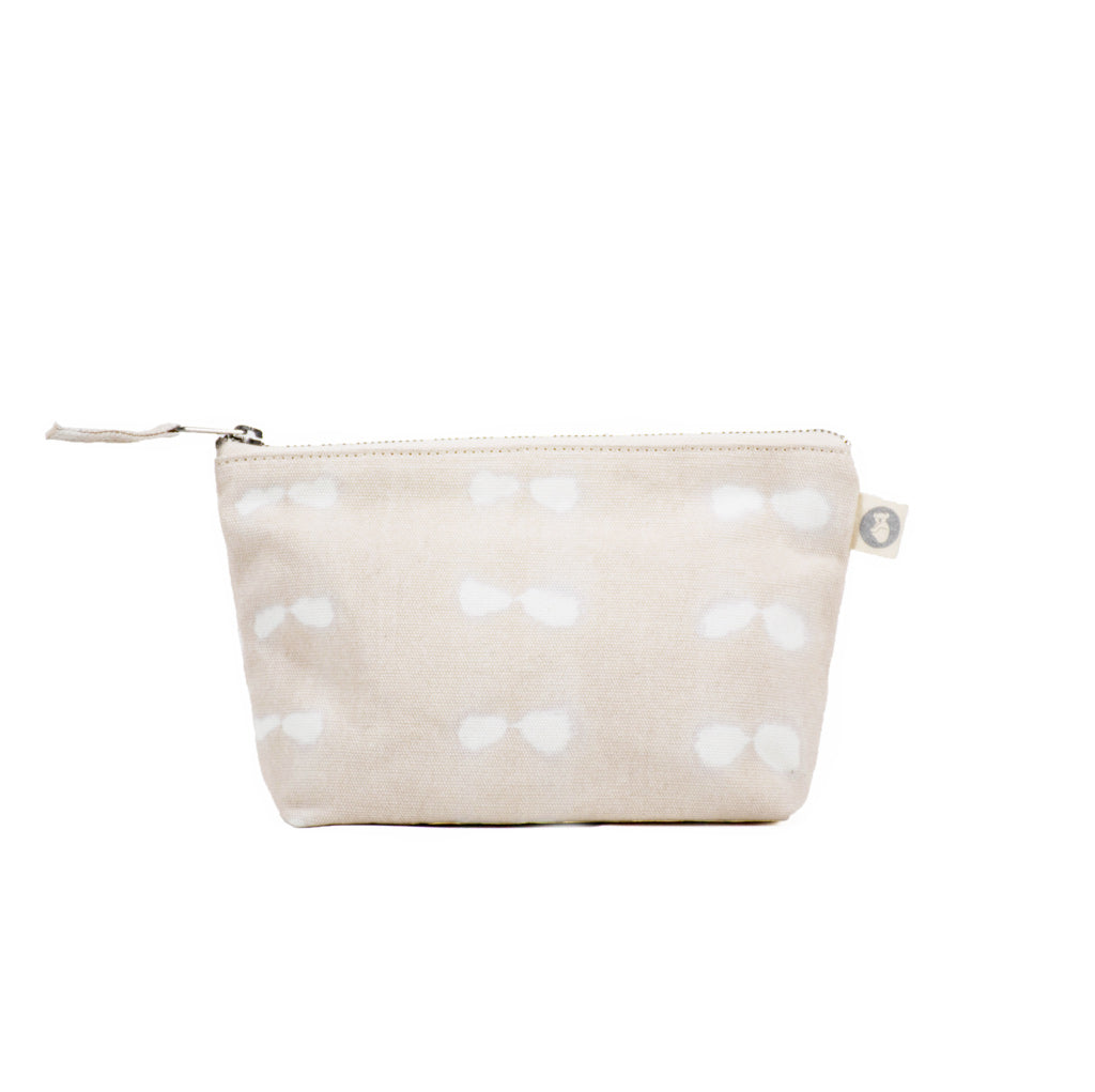 Makeup Bag: Stone Shibori