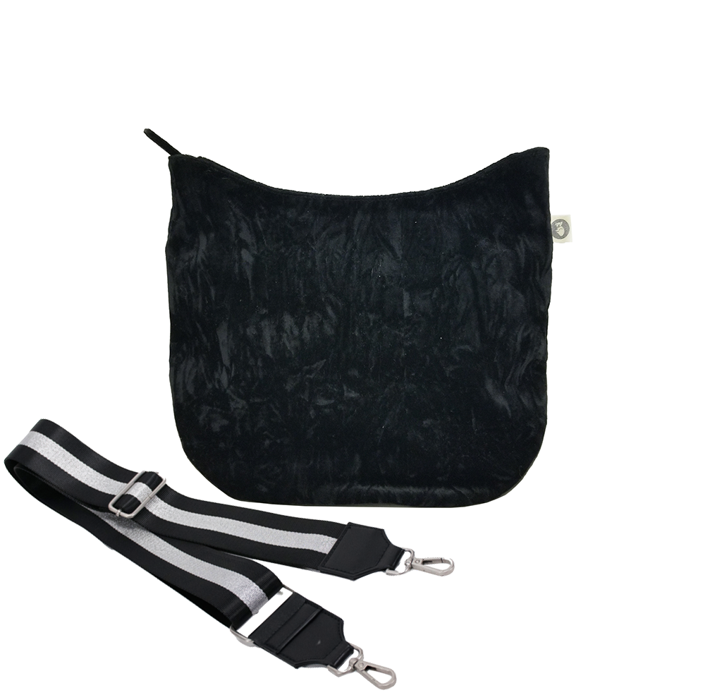 Mini City Bag: Black Crushed Velvet