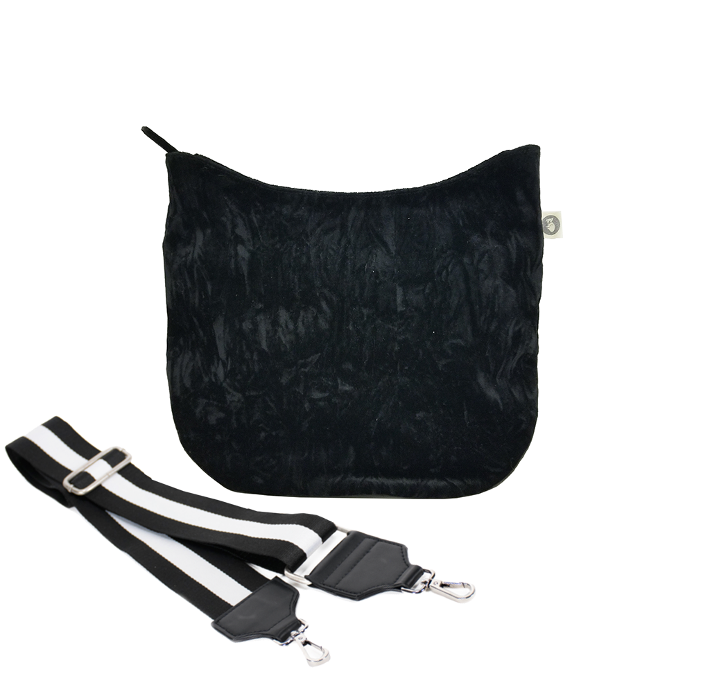 Color Stripe Collection: Mini City Bag Black Velvet