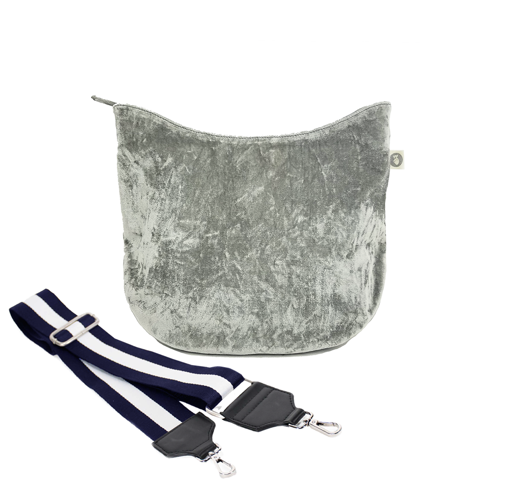 Mini City Bag: Grey Velvet