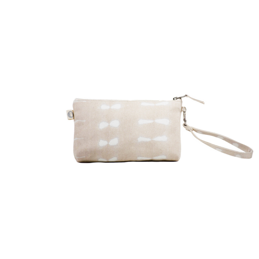Mini Luxe Clutch with Wristlet: Stone Shibori