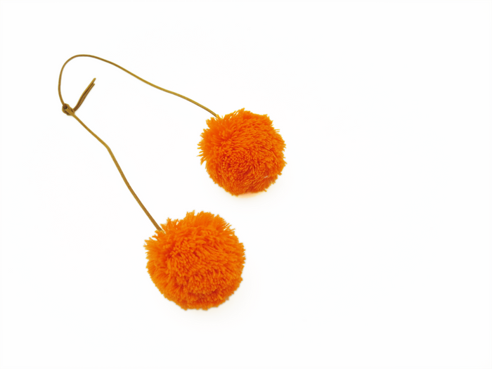 Set of 2 Pom Pom: Orange & Orange -  Save $5!