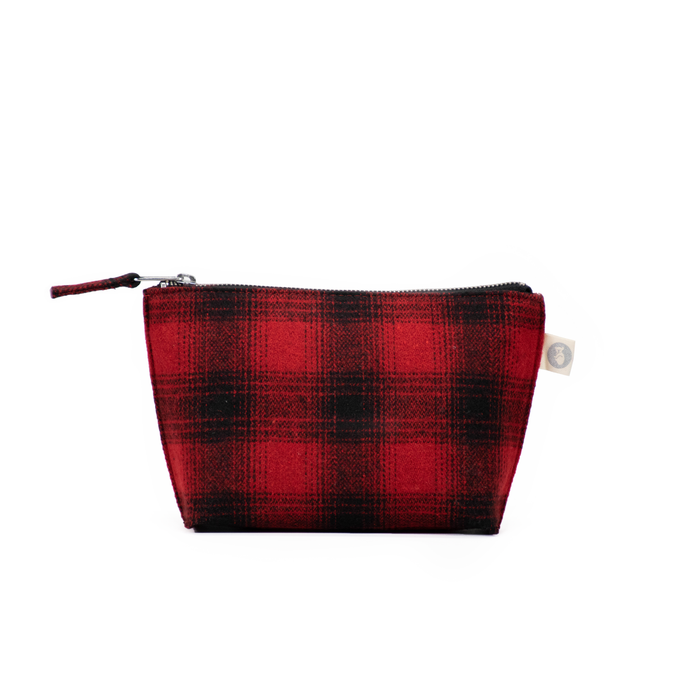 Makeup Bag: Red Plaid Flannel