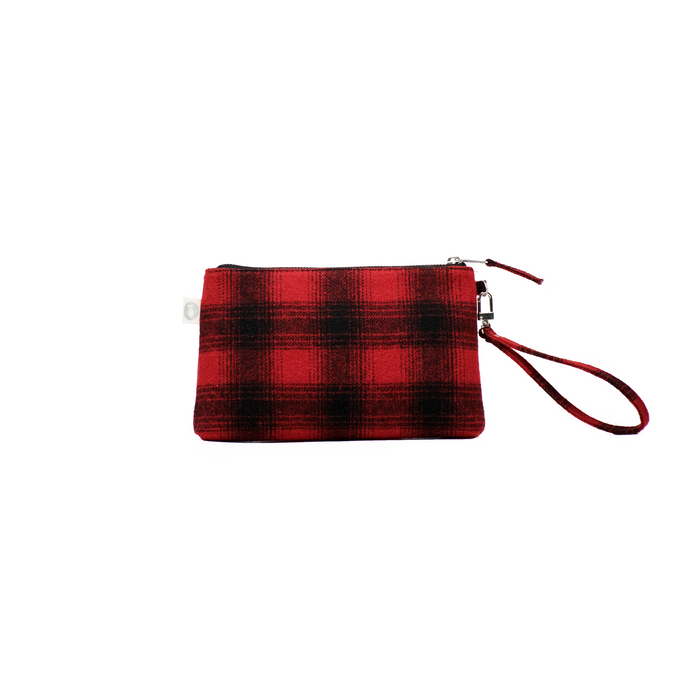 A Gift For You! Red Plaid Flannel Mini Luxe Clutch