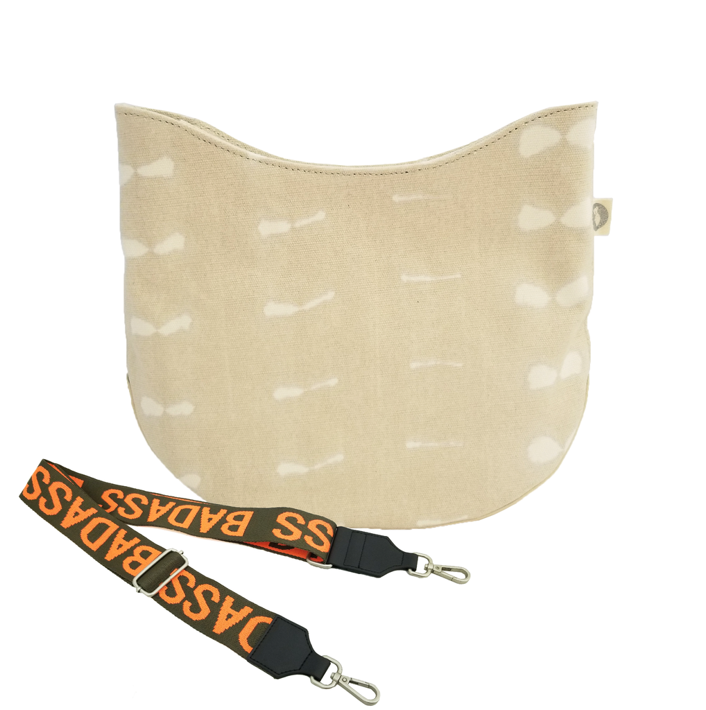 Monogram Stripe City Bag: Stone Shibori