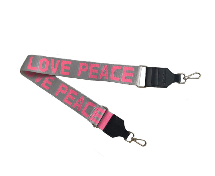 Koala Straps: Grey & Pink - PEACE/LOVE