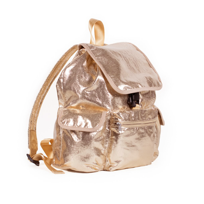 Adult Backpack: Rose Gold Metallic
