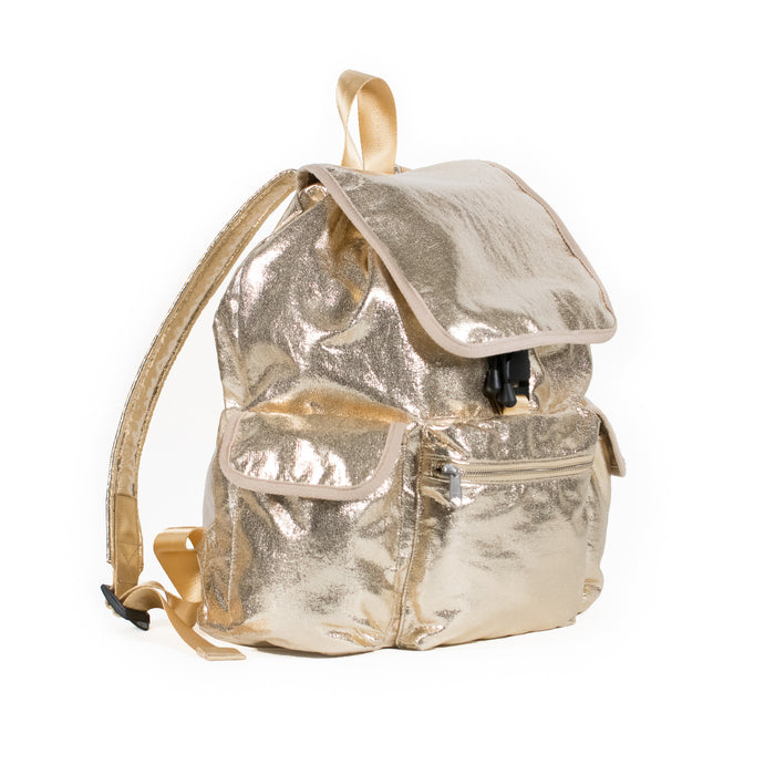 Adult Backpack: Gold Metallic  JUST $50.40 with code FLAG