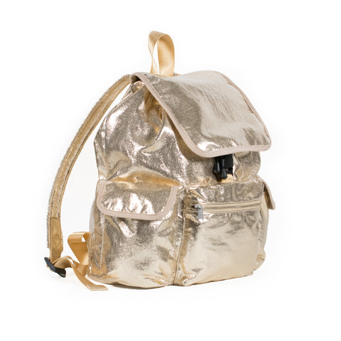 Adult Backpack: Gold Metallic  Just $55.20 with code HOLIDAY