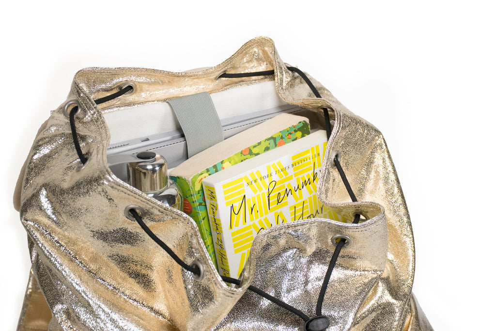 Adult Backpack: Gold Metallic