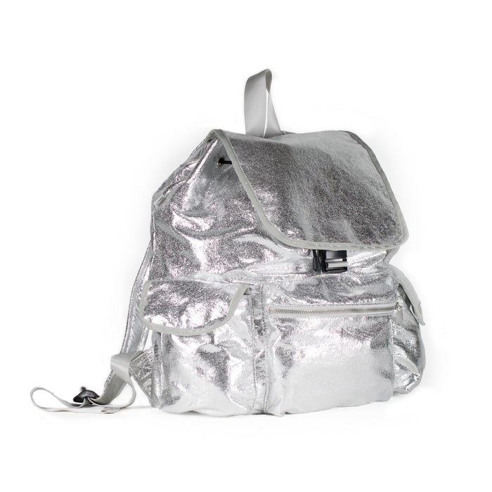 Adult Backpack: Silver Metallic