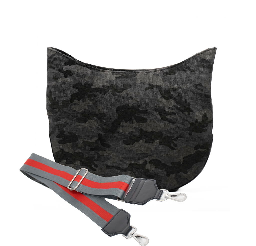 Monogram Stripe City Bag: Black Camo