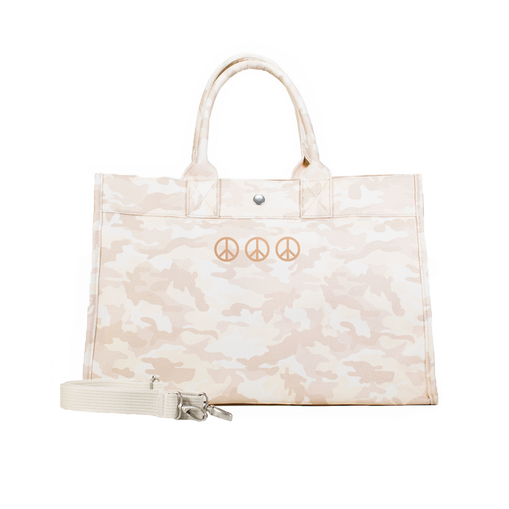 Mini Peace Signs: Midi East West Bag