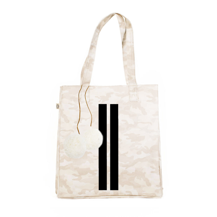 Blush Camo Upright Bag with Black Matte Double Stripe and FREE Cream Pom Poms Only $86 with code: GIFT86