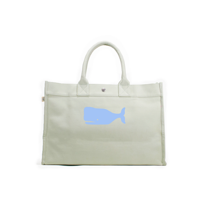 East West Bag: Seaglass Green with Light Blue Matte Whale