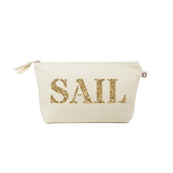 Clutch Bag: Natural with Gold SAIL