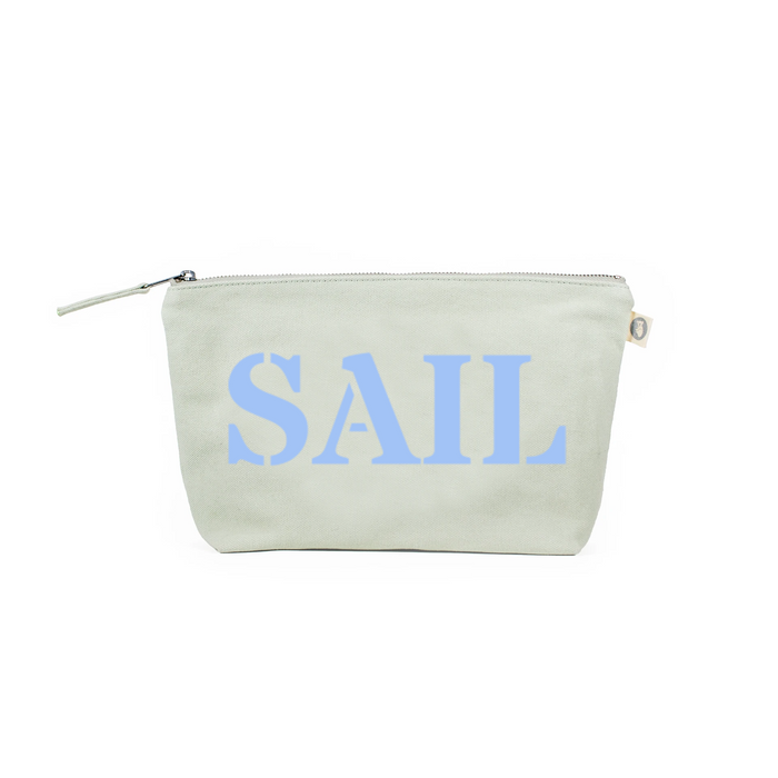 Clutch Bag: Seaglass Green with Light Blue SAIL