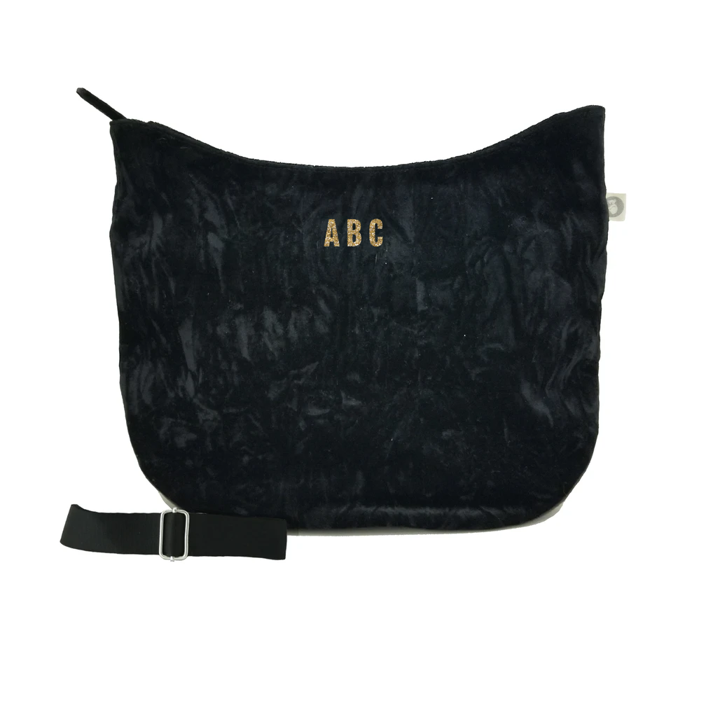 Mini Monogram City Bag: Black Crushed Velvet