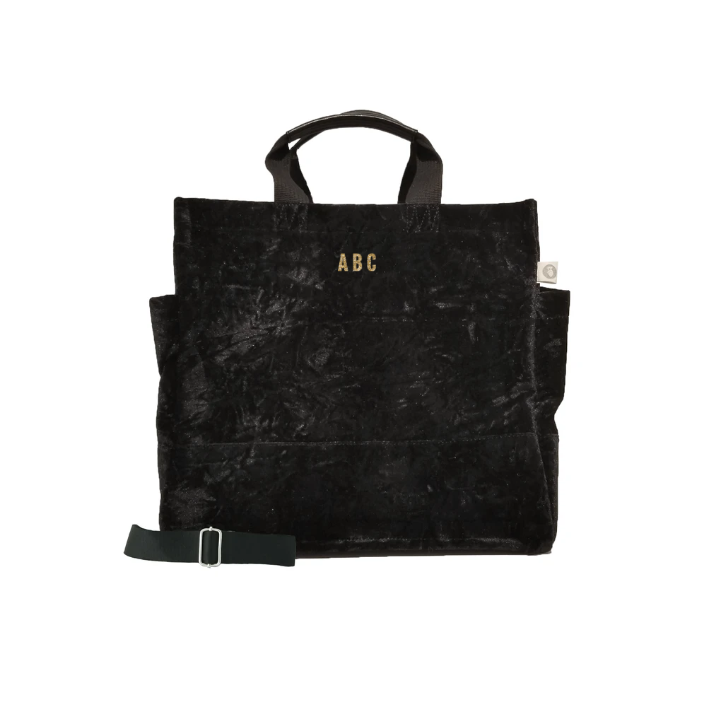Mini Monogram  Luxe North South: Black Crushed Velvet