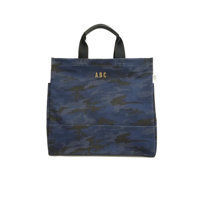 Mini Monogram Dark Blue Camo North South Bag