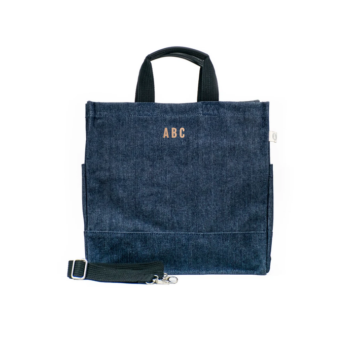 Mini Monogram Denim North South Bag