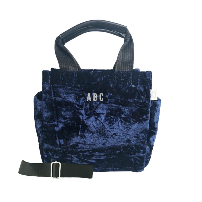 Mini Monogram Mini Luxe North South: Midnight Blue Crushed Velvet