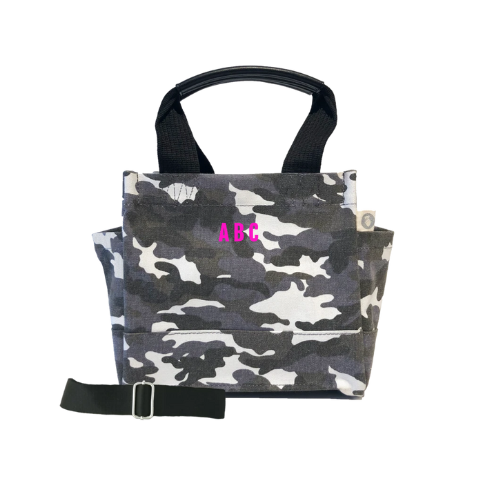 Mini Monogram Mini Luxe North South Bag: Grey Camouflage