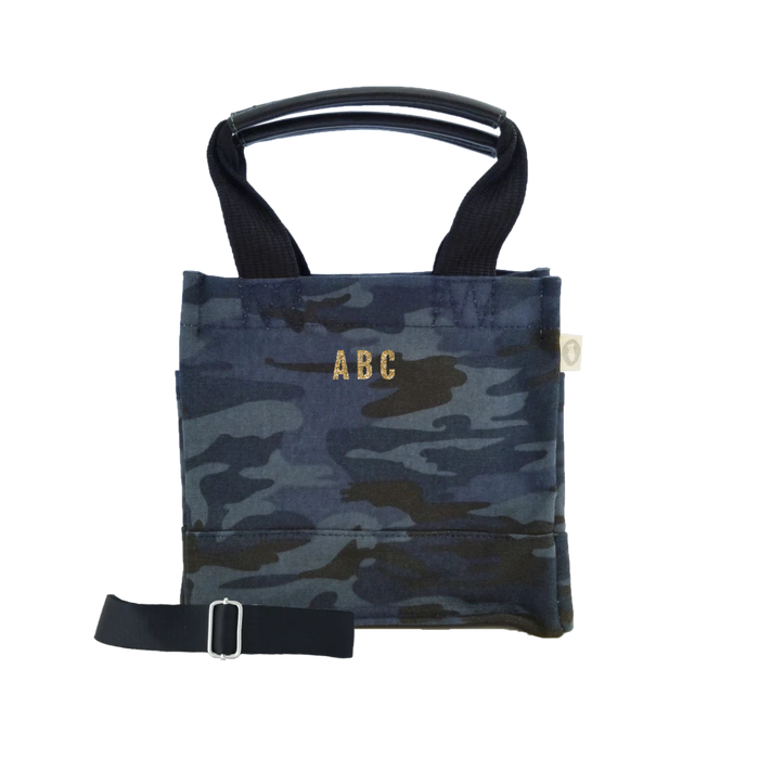 Mini Monogram Mini Luxe North South: Dark Blue Camouflage