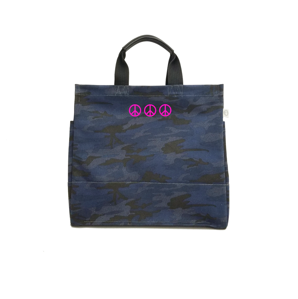 Mini Peace Signs: Luxe North South Bags