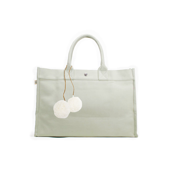 Seaglass East West Bag + FREE Cream Pom Poms ($167 value for only $77 with code: MYDEAL)