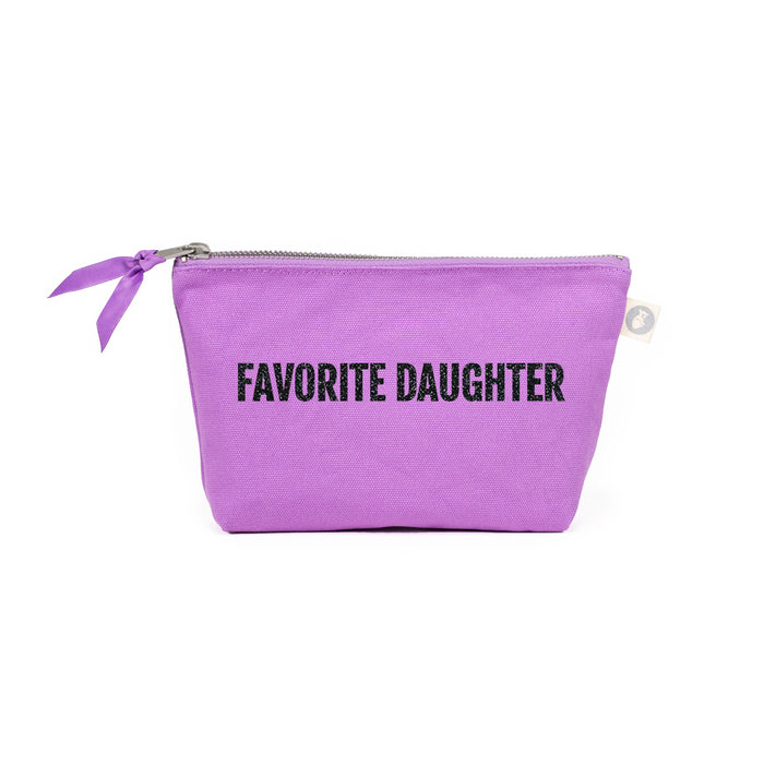 Favorite Daughter Makeup Bag: Lavender with Black Glitter