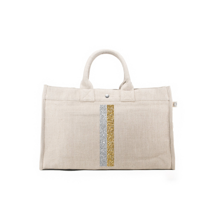 Color Stripes: East West Bag in Flax