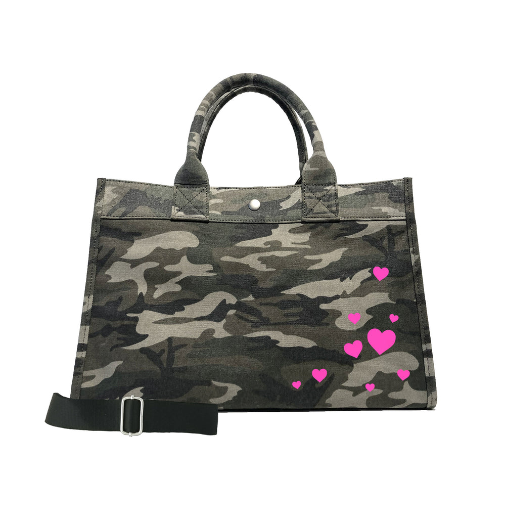 Scatter Hearts: Midi East West Bag